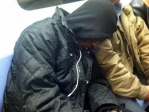 Viral Photo of Black Man Sleeping on Jewish Subway Stranger