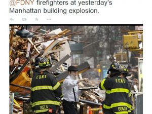 Jewish Baker Handing out Cookies to FDNY Firefighters