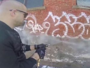 Tackling Hate Speech Graffiti with a Power Washer