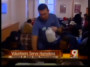 Jewish young professionals host breakfast for homeless